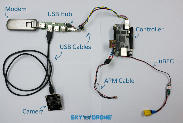 Sky Drone FPV Hardware components