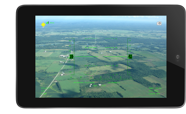 Sky Drone FPV groundstation app on Android tablet