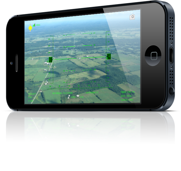 Sky Drone FPV groundstation app on iPhone