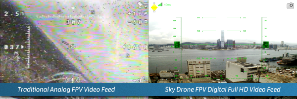 Analog FPV vs. digital Sky Drone FPV comparison